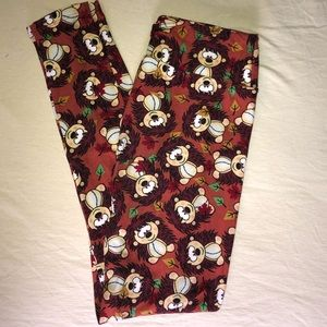 Lularoe hedgehog leggings- OS